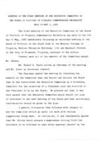 [1968-05-07] Minutes of the first meeting of the Executive Committee of the Board of Visitors of Virginia Commonwealth University held on May 7, 1968.