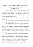 [1968-05-14] Minutes of a special meeting of the Board of Visitors of Virginia Commonwealth University held on May 14, 1968.