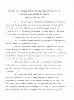 [1968-06-10] Minutes of a special meeting of the Board of Visitors of Virginia Commonwealth University held on June 10, 1968.