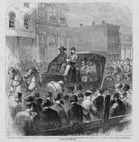 Arrival of Jefferson Davis in Richmond, on Saturday, May 11th; passing up Main Street under escort of Gen. Burton and U. S. Cavalry