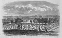 Encampment of Union prisoners at Belle Isle, Richmond, Virginia