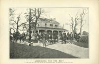 Assembling for the meet; A scene on the lawn in front of the Deep Run Hunt Club, Richmond, Virginia