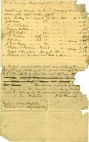 Inventory of moneys on hand belonging to deceased soldiers who left no other effects, 1862 August 9