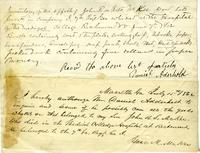 Inventory of the effects of John R. S. McKee, 1862 June 7