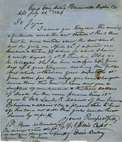 Letter from A. J. Ellis to L. S. Joynes, 1864 July 22