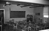 Worsham Baptist Church and Worsham Academy, Worsham, Va., classroom interior, 1962-1963
