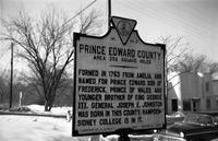 State historical road marker for Prince Edward County, Va., 1962-1963