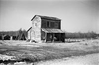 House inhabited by an African American man on secondary road 632, Prince Edward County, Va., 1962-1963