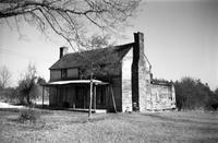 House inhabited by African Americans on secondary road 692, Prince Edward County, Va., 1962-1963