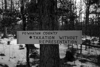"Sign (""Taxation""), Powhatan County, Va., 1962-1963"