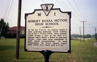 Robert R. Moton High School historical marker, 1998
