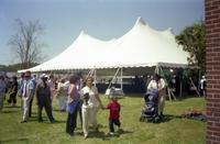 Robert Russa Moton Museum, Farmville, Va., 50th anniversary of the student strike, view of tent, 2001
