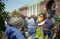 Robert Russa Moton Museum, Farmville, Va., 50th anniversary of the student strike, ribbon cutting, 2001