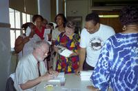 Robert Russa Moton Museum, Farmville, Va., occasion of republished book by R.C. Smith, book signing, 1996