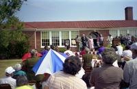 Robert Russa Moton High School, Farmville, Va., national historic designation ceremonies, view of participants, 1998