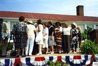Robert Russa Moton High School, Farmville, Va., national historic designation ceremonies, view of students, 1998
