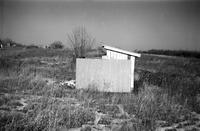 Peaks Elementary School, Prince Edward County, Va., view of privy, 1962-1963