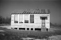 Peaks Elementary School, Prince Edward County, Va., side view of building, 1962-1963