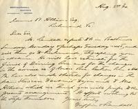 Letter from Griffin & Randall to James W. Allison, 1894 August 3